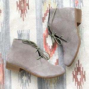 Mossimo Tan Suede Leather Ankle Boots Booties 8